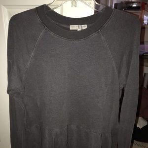 Grey peplum sweatshirt